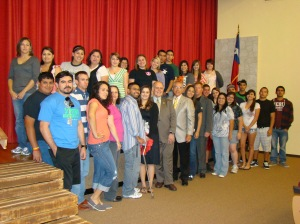 Congressman Hinojosa with CBC Alice Campus students