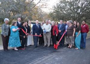 Ribbon cutting opens walking trail
